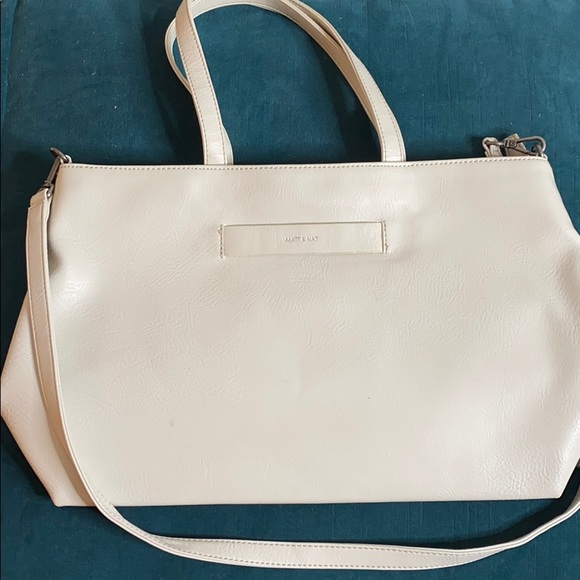 Matt & Nat Accessories - Matt & Nat tote/lap top purse - cream white